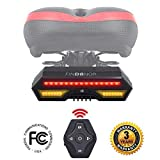 FINDANOR Bike Turn Signals, Upgrated Wireless Remote Control Bike Tail Light, Safety Bike Brake Lights and Flashing Lights, 2200mAh USB Bike Tail Light Rechargeable, Waterproof IPX4.