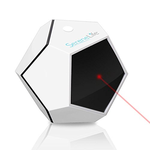 SereneLife Automatic Cat Laser Toy - Rotating Moving Electronic Red Dot LED Pointer Pen W/ Auto Wireless Control - Remote Light Beam Teaser Machine for Interactive & Smart Sensory
