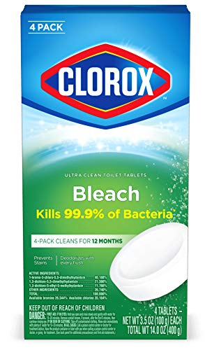 Clorox Automatic Toilet Bowl Cleaner Tablets with Bleach - 3.5 Ounces Each, 4 Count