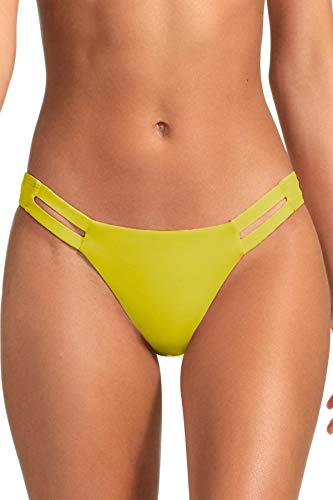 """71Bml20aoOL NEUTRA HIPSTER BOTTOM: A California-cut hipster inspired by modern architecture. Strappy insets create a graphic cutout effect. The front has a smooth, clean finish, the back is designed to stay in place in the waves. SIZING: XS-2-4: waist 24-26"""", hips 35-37"""" / S-6: waist 26-28"""", hips 37-39"""" / M-8: waist 28-29"""", hips 39-41"""" / L-10: waist 29-30"""", hips 41-43"""" / XL-12: waist 30-31.5"""", hips 43-45"""" MIX & MATCH: Vitamin A swimwear is created to provide seamless mixing between collections, giving you the options you need to show off your signature style."""