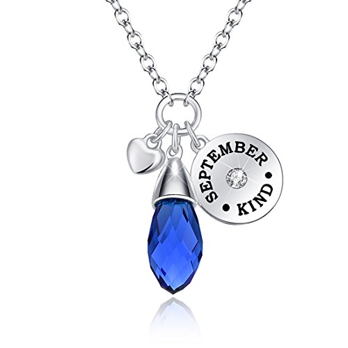 Love of crystal created 12 months birthstone necklace water drop love aloadofball Image collections