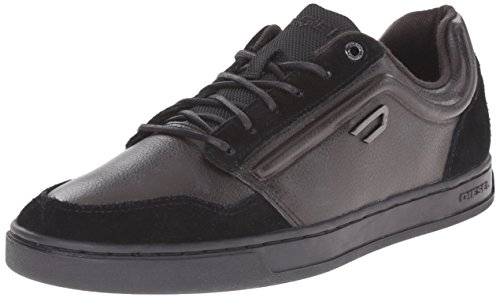 41g2hncDyCL Low-profile mod fashion sneaker with leather upper featuring suede accents at toe, heel, and laces Logo plate at lateral side