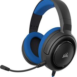 Corsair HS35 Stereo Gaming Headset (Custom 50 mm Neodymium Speakers, Detachable Unidirectional Microphone, Lightweight Build with Xbox One, PS4, Nintendo Switch & Mobile Compatibility) – Blue