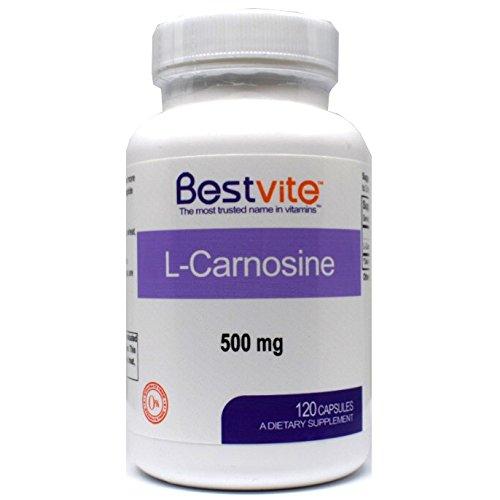 L-Carnosine 500mg (120 Capsules) No Fillers - No Stearates