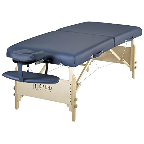 Master Massage Catalina Portable Pro Package Massage Table, Royal Blue, 30 Inch