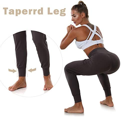 Mesily Women's Athletic Joggers High Waist Sweatpant Yoga Pant with Pockets for Workout Running 4