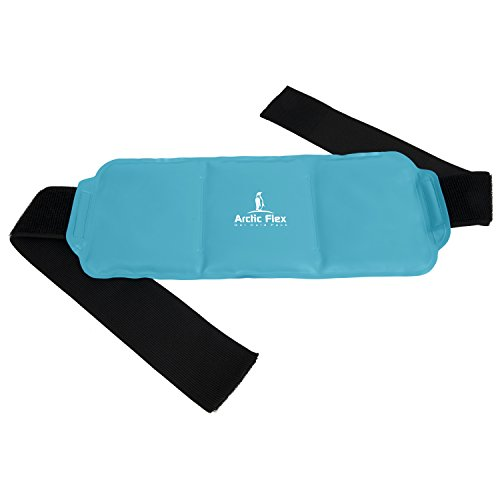 Hot Cold Therapy Wrap by Vive - Reusable Gel Ice and Heat Compress Pack with Strap for Muscles, Injuries, Back, Neck Aches, Knee, Ankle, Calves, Elbow Pain Relief - Microwaveable Blue Pad, Flexible