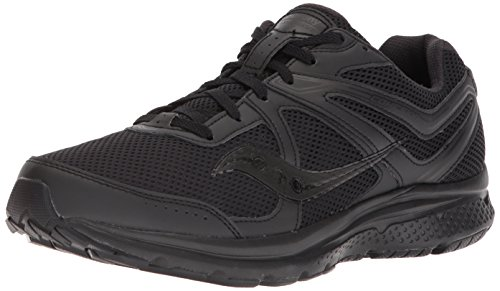 Saucony Men's Cohesion 11 Running Shoe, Black, 10.5 Wide US