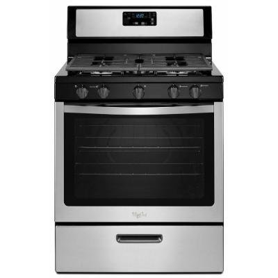 Whirlpool WFG505M0BS 30' Stainless Steel Gas Sealed Burner Range