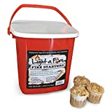 Light-A-Fire, All Natural Fire Starter. BBQ, Charcoal, Wood Fire. 30 Pods with Container