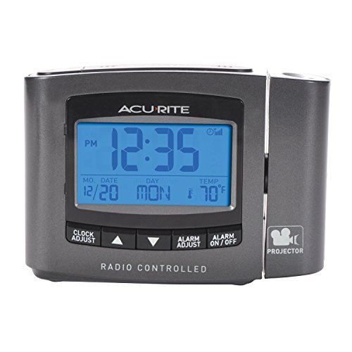 AcuRite 13239A1 Atomic Projection Clock with Indoor Temperature