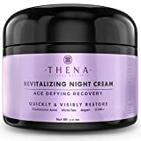 Organic Night Cream Anti Aging Wrinkle Cream With Hyaluronic Acid Argan Oil, Natural Face Moisturizer & Under Eye Cream For Dark Circles, Rapid Repair Facial Lotion For Dry Sensitive Skin, Women & Men