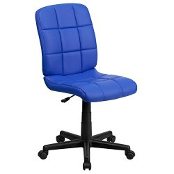 Flash Furniture Mid-Back Blue Quilted Vinyl Swivel Task Office Chair