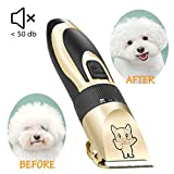Dog Grooming Kit Clippers, Electric Quiet, Low Noise, Rechargeable, Cordless, Pet Hair Thick Coats Clippers Trimmers Set Suitable for Dogs, Cats, and Other Pets