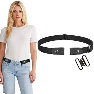 WERFORU Buckle-Free Women No Buckle Invisible Fabric Stretch Belt For Jeans