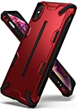 Ringke Dual-X Compatible with iPhone Xs Max Case Dual-Layer Reinforced Heavy Duty Defense [Shock Absorption] Ergonomic Reassuring Grip Protective Cover for iPhone Xs Max 6.5' - Iron Red