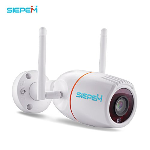 SIEPEM Outdoor Camera Wireless Home Security Camera System WiFi IP Camera with Night Vision/Motion Detection,Waterproof Bullet Surveillance Cameras/Pet Cameras,Wireless WiFi Webcam for SD Card