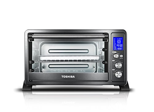 Toshiba AC25CEW-BS Digital oven with Convection/Toast/Bake/Broil Function 6-Slice Bread/12-Inch Pizza Black Stainless Steel