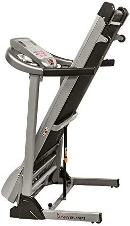 Sunny Health & Fitness Electric Folding Treadmill with Auto Incline 10