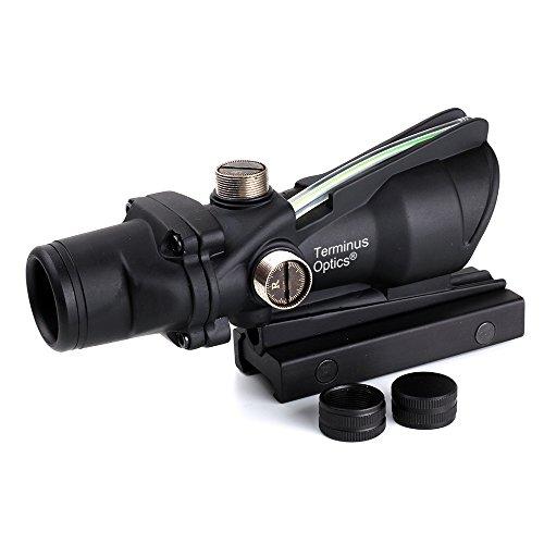 Terminus Optics Black TOC1 BDC Reticle Green Fiber 4x32 Magnification Rifle Scope Terminus LLC