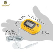 Reptile-Digital-Thermometer-Waterproof-sensor-probe-monitors-temperature-Accurately-Easy-to-read-Display-Includes-Replaceable-Batteries-Dual-Temperature-reading-in-Fahrenheit-and-Celsius