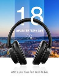 Mpow-H7-Bluetooth-Headphones-Over-Ear-18-Hrs-Comfortable-Wireless-Headphones-wBag-Rechargeable-HiFi-Stereo-Headset-CVC60-Headphones-with-Microphone-for-Cellphone-TabletBlack