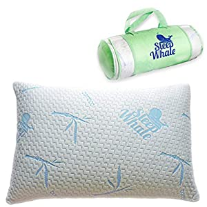 Sleep Whale - Premium Adjustable Shredded Memory Foam Pillow