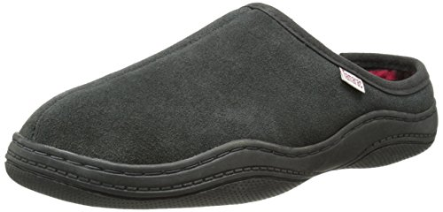 Tamarac by Slippers International Men's Irish Clog Slipper,Charcoal Grey,12 M US