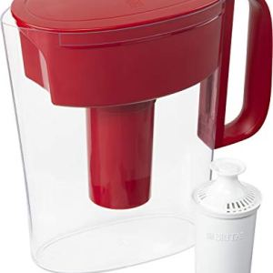 Brita Standard Metro Water Filter Pitcher, Small 6 Cup 1 Count, Red