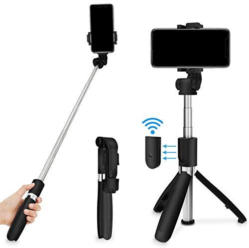 Bluetooth Selfie Stick Tripod with Detachable Wireless Remote