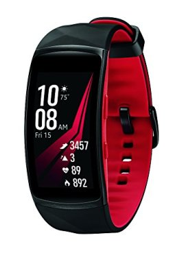 Samsung Gear Fit2 Pro Smart Fitness Band (Large), Diamond Red, SM-R365NZRAXAR – US Version with Warranty