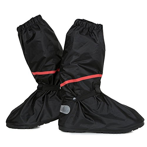 Go Motorcycle Boot Covers - Ultimate Waterproof Protective Rain Snow Shoes Cover | Premium Polyester | Men Size US 10-11 | Black | 650.4