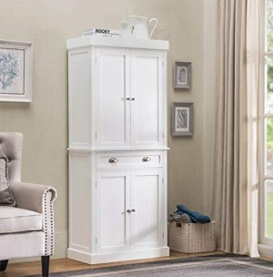 2L Lifestyle Ashlyn Cabinet White Finish, Large