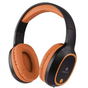 Zebronics Zeb-Thunder Wireless BT Headphone with Built-in FM, AUX Connectivity and Micro SD Card Support(Brown)