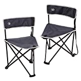 REDCAMP Lightweight Tripod Camping Chair with Back, 2-Pack Folding Portable Tripod Seat Stool with Shoulder Strap, Perfect for Outdoor Traveling, Blue