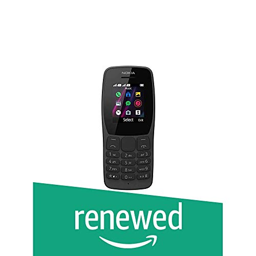 (Renewed) Nokia 110 Dual SIM (Black) 81