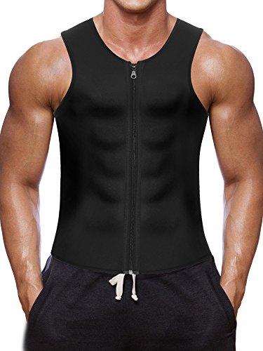 Men Waist Trainer Vest for Weightloss Hot Neoprene Corset Body Shaper Zipper Sauna Tank Top Workout Shirt