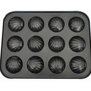 Cake/Muffin Baked Tin, 12-Hole Baking Pan Banana Metal Carbon Steel Non-Stick Cake Mould 41h3eRxChEL