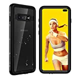 Waterproof Samsung Galaxy S10+ Plus Case, Underwater Crystal Clear Full Body Protective with Built-in Screen Protector Heavy Duty Rugged Case Shockproof Dustproof Waterproof Case for Galaxy S10+ Plus