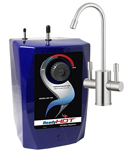 Ready Hot RH-100-F560-BN Hot Water Dispenser System, Includes Brushed Nickel Dual Lever Faucet
