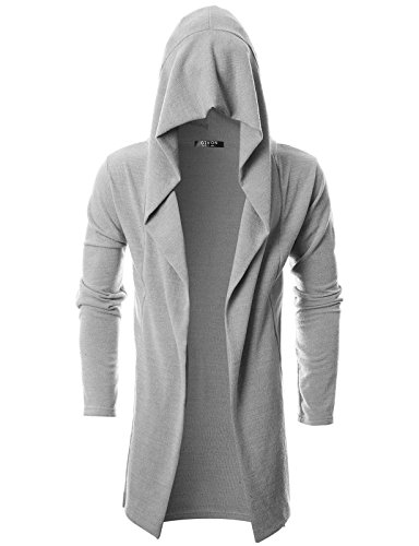 GIVON Mens Long Sleeve Draped Lightweight Open Front Longline Hooded Cardigan 2 Fashion Online Shop gifts for her gifts for him womens full figure