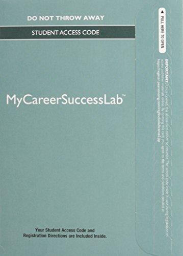 Career Success Program--MyLab Standalone Access Card (Mycareersuccesslab)
