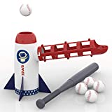 iPlay, iLearn Backyard Baseball Pitching Machine Toys, Training Sport Set, Outdoor Pitcher, T Ball Batting Practice Equipment, Birthday Gifts for 3, 4, 5, 6, 7 Year Olds, Kids, Boys, Girls, Toddlers