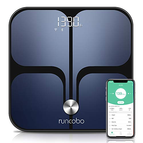 Digital Scale - Wi-Fi Bluetooth Auto - Switch Smart Scale Digital Weight, Body Fat Scale for Weight, 14 Body Composition Monitor with iOS, Android APP, Support Unlimited Users, Auto - Recognition