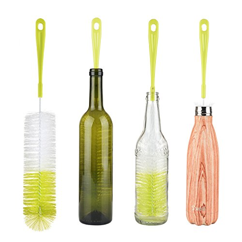"""16"""" Long Bottle Brush Cleaner for Washing Wine, Beer, S'well, Decanter, Kombucha, Hydroflask, Thermos, Glass Jugs and Long Narrow Neck Sport Bottles"""