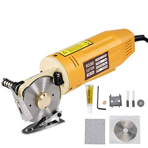 VEVOR-Fabric-Cutter-70mm-Rotary-Fabric-Cutter-12mm-Cutting-Thickness-2400-RPM-Rotary-Cutter-Machine-All-Copper-Motor-with-Low-Noise-Adjustable-Speed-Electric-Scissors-for-Cutting-Fabric-and-Leather