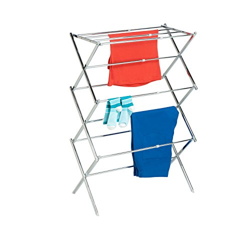 Honey-Can-Do DRY-03053 Expandable Drying Rack, Chrome