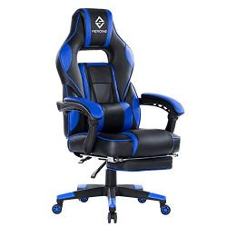 PEROINE Massage Gaming Chair – High Back PU Leather PC Racing Computer Desk Office Swivel Chair with Retractable…