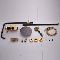 YUI-Shower-Systems-with-Rain-Shower-and-Handheld-Bathroom-Accessories-Sets-Complete-Slide-Bar-and-Hose-Space-Aluminium-Black-and-Gold