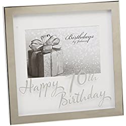 70th Silverplated Edge Box Frame 6 x 4